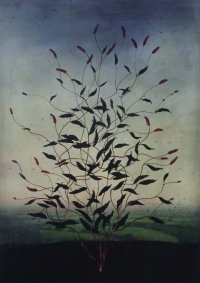 Michael Canning, Eliptic, oil on gessoed wood panel, 70 x 50 cm, 2012, SOLD