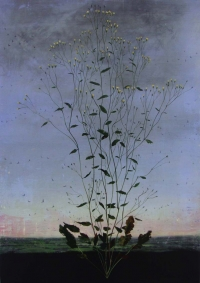 Michael Canning, Tombeau, oil on gessoed wood panel, 70 x 50 cm, 2012, SOLD