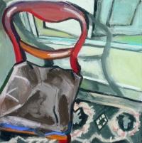 Regine Bartsch, Chair Time 1, pastel chalk & acrylic on canvas, 40 x 40, 2013, €1,400
