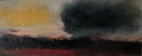Carol Hodder, stormlands i, oil on canvas, 30 x 76 cm, 2013, SOLD