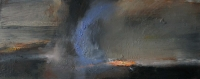 Carol Hodder, stormlands ii, oil on canvas, 30 x 76 cm, 2013, SOLD