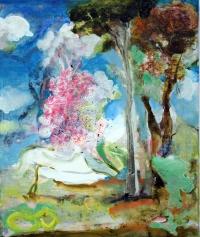 Jonathan Hunter, Landscape, oil on canvas, 30 x 25 cm, 2013, €850