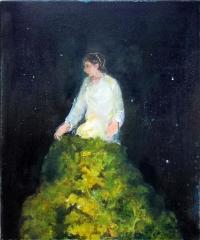 Jonathan Hunter, The Botanist, oil on canvas, 30 x 25 cm, 2013, €850