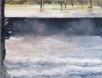 Bernadette Kiely, Quayside Flood, oil on canvas, 35 x 46 cm, 2012, €1,700