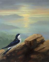 Gail Boyagian, Martin & the Sea, oil on panel, 25.25 x 20.5 cm, 2013, €1,100