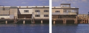 John Doherty, End of an Era diptych (Carlisle Pier, Dun Laoghaire, Co. Dublin), 46 x 111 cm, 2015-16, € 22,000