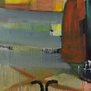 Eamon Colman, Morning swim by the Sultan's tower, acrylic & oil on Sommerset paper, 143 x 143 cm, 2010, €7,000 framed