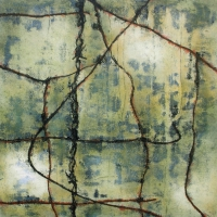 Tim Goulding, Wabi Sabi 7, acrylic on canvas, 16 x 16 inches, 2007, SOLD
