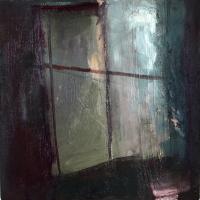 Carol Hodder Studio Window II, oil on canvas, 20 x 20 cm, 2011, SOLD