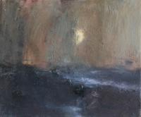 Carol Hodder, Sea Moon, oil on canvas, 30 x 40 cm, 2013