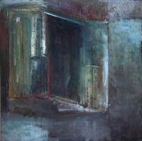 Carol Hodder <i>Narnia Box</i>, oil on canvas, 60 x 60 cm, 2011, SOLD