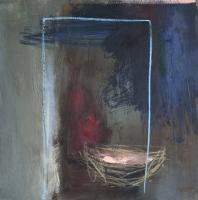 Carol Hodder <i>Nesting Box</i>, oil on canvas, 60 x 60 cm, 2011, SOLD