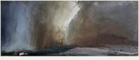 Carol Hodder, stormlands iv, oil on canvas, 30 x 75 cm, 2013, SOLD