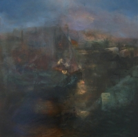 Colin O'Daly, Harbour Lights by Night, oil on canvas, 80 x 80 cm, 2013, €2,200