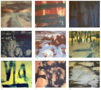 Hughie O'Donoghue, On the Rapido, set off 9 carborundum prints, 2006