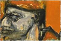 Hughie O'Donoghue, Rioba Blockhead X, 2011, monotype, 37 x 55 cm, € 2,900