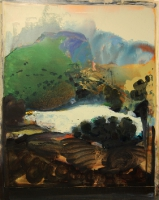 Jonathan Hunter, Annie's Pond, oil on canvas, 150 x 120 cm, 2009, SOLD