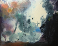 Jonathan Hunter, Blue Mountain, oil on canvas, 95 x 129 cm, 2009, SOLD
