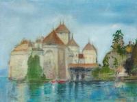 Margaret Corcoran, Rainbow Castle, oil on linen, 30 x 41 cm, 2014