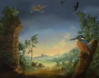 Gail Boyajian, Fantasia, oil on panel, 20.5 x 25.5 cm, 2015