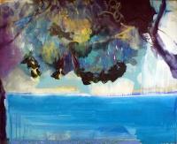 Jonathan Hunter, Storm Cloud, oil on canvas, 40 x 180 cms, 2015