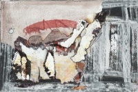 John Kingerlee, Collage & Paint, on paper, 15x23 cm, 2007, SOLD