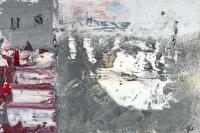 John Kingerlee, Flags, Warehouses, oil on paper
