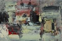 Grid Dissolving, oil on board, 19 x 28 cm, 2010