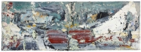 John Kingerlee, Red Landscape, oil on board, 15 x 44 cm, 2010, &euro, € 6,000