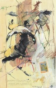 John Kingerlee, The Emmigrant, collage on paper, 29 x 19 cm, 2009, € 1,500