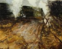 Bernadette Kiely, Haystacks Burning, oil on canvas, 2008, SOLD