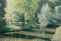 Bernadette Kiely, River Noor, The Quay (Yellow), oil on canvas, 40 x 58