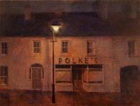 Maeve McCarthy, Polke's, Ballycastle, 30 x 40 cm, oil & tempera on board, 2015