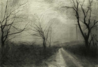 Maeve McCarthy, Bare Trees 1, charcoal on Fabriano paper, 70 x 100 cm, 2014, € 1,690