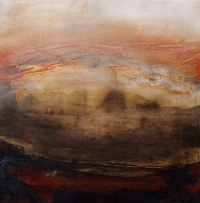 Siobhan McDonald, Implosion, oil, fresco plaster & sumi ink on canvas, 41 x 41 cm, 2011, framed, € 1,900