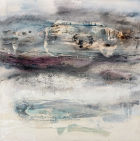 Siobhan McDonald, Atmospheric Vapors, 76 x 76 cm, oil on canvas, 2011, framed, € 4,400