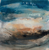 Siobhan McDonald, Flow, 41 x 41 cm, oil on canvas, 2011, framed, SOLD