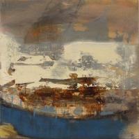 Siobhan McDonald, Voyage, 53 x 53 cm, mixed media on canvas, 2015