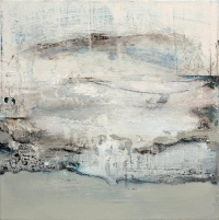 Siobhan McDonald, Retreating Glacier, 46 x 46 cm, oil on canvas, 2011, framed, SOLD