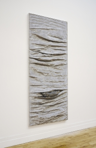 Eilis O'Connell, Bounce, steel mesh, aluminium and wood, 240 x 103 x 16 cm