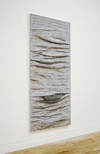 Eilis O'Connell, Bounce, steel mesh, aluminium and wood, 240 x 103 x 16 cm