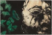 Hughie O'Donoghue, Green Man (C) I, 2011, monotype, 37 x 55 cm, € 2,900
