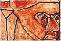 Hughie O'Donoghue, Il Papa V, 2011, monotype, 37 x 55 cm, € 2,900