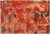 Hughie O'Donoghue, Il Papa VI, 2011, monotype, 37 x 55 cm, € 2,900