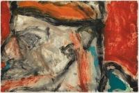 Hughie O'Donoghue, Rioba Blockhead VIII, 2011, monotype, 37 x 55 cm, € 2,900