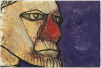 Hughie O'Donoghue, Rioba II, 2011, monotype, 37 x 55 cm, SOLD