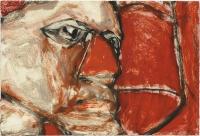 Hughie O'Donoghue, Rioba VI, 2011, monotype, 37 x 55 cm, € 2,900