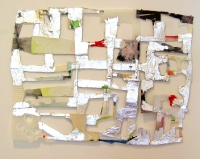 Helen O'Leary, Conversations, vellum, collage and platinum, 2006, SOLD