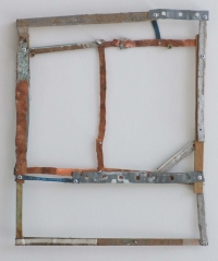 Helen O'Leary, Exactitudes of Certainty, metal, wood and mixed media, 2012, SOLD