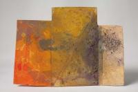 Helen O'Leary, A small refusal, egg oil on cardboard carton, 2013, SOLD